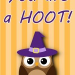 Halloween Printable: You Are a Hoot, 2012 Copyright Christine Hull, Windy Pinwheel