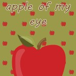 Halloween Printable: You're the Apple of My Eye, 2012 Copyright Christine Hull, Windy Pinwheel