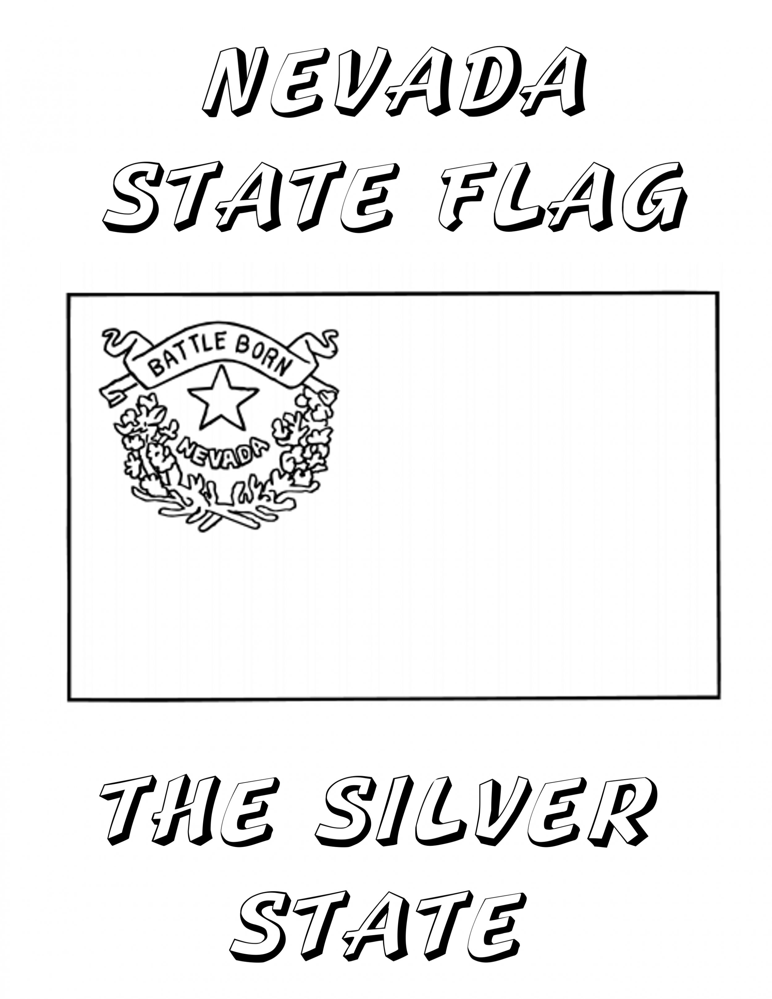 nevada state coloring pages - photo#23