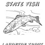 Nevada Day Coloring Book: State Fish, Lahontan Cutthroat Trout, 2012 Copyright Christine Hull, Windy Pinwheel
