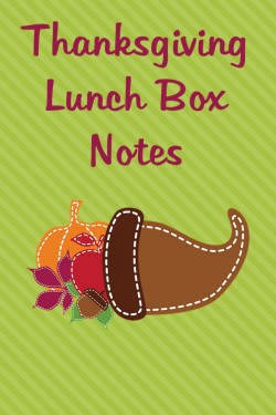 Thanksgiving Themed Lunch Box Love Notes, 2012 Copyright Christine Hull, Windy Pinwheel