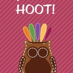 Thanksgiving Themed Lunch Box Love Notes: You're a Hoot, 2012 Copyright Christine Hull, Windy Pinwheel