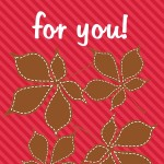 Thanksgiving Themed Lunch Box Love Notes: I've fallen for you, 2012 Copyright Christine Hull, Windy Pinwheel