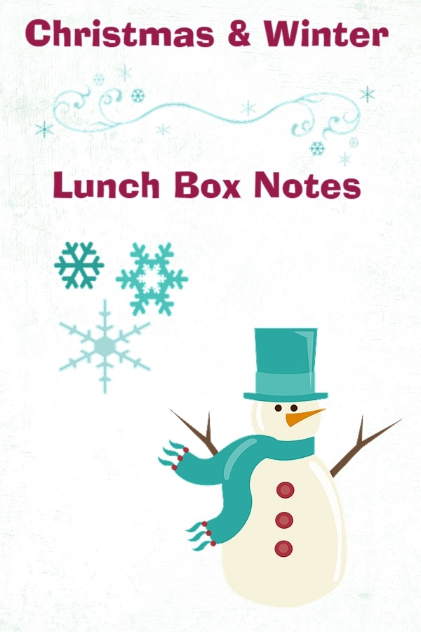 free christmas and winter themed lunch box love note. Black Bedroom Furniture Sets. Home Design Ideas