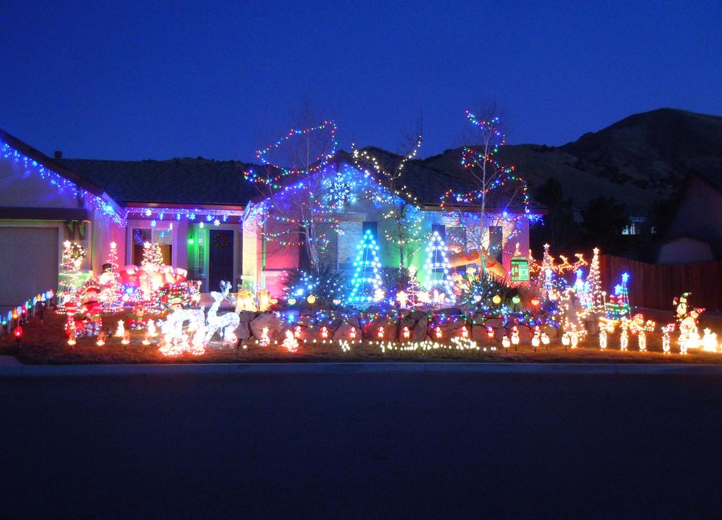 hidden valley christmas light map