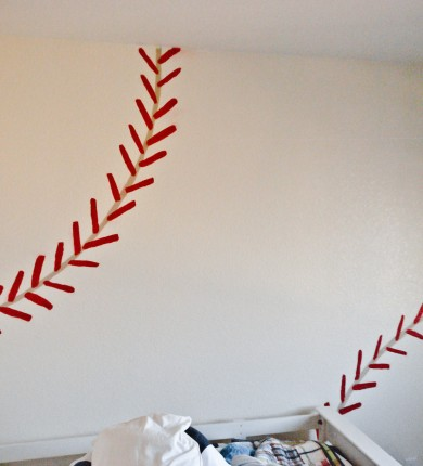 Boy's Room Baseball Wall: From the left, 2013 Copyright Will Hull, Windy Pinwheel