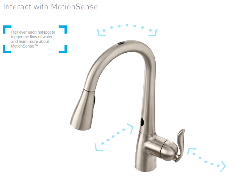Moen Arbor with MotionSense™ Kitchen Faucet, Source: Moen.com