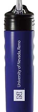 University of Nevada, Reno 24oz Stainless Steel Grip Water Bottle with Straw Blue, Source: Amazon.com