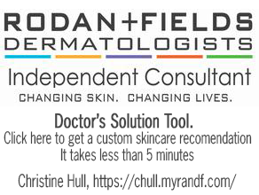 Rodan and Fields Independent Consultant, Christine Hull, Click here to use our free skincare solution tool